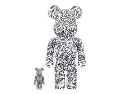 Keith Haring × Be@rbrick #4 100% & 400% Set Whiteの写真
