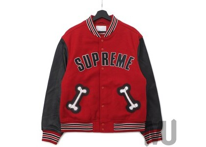 Supreme Bone Varsity Jacket Redの写真