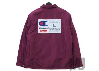 Supreme Champion Label Coaches Jacket Purpleの写真