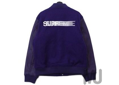 Supreme Motion Logo Varsity Jacket Purpleの写真