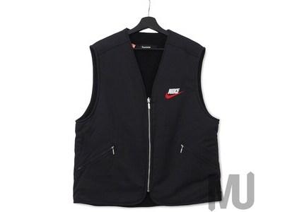 Supreme Nike Reversible Nylon Sherpa Vest Blackの写真
