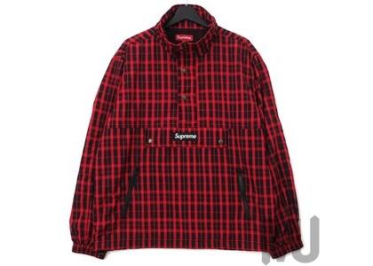 Supreme Nylon Plaid Pullover Redの写真
