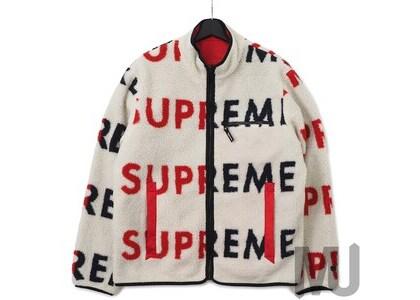 Supreme Reversible Logo Fleece Jacket Naturalの写真