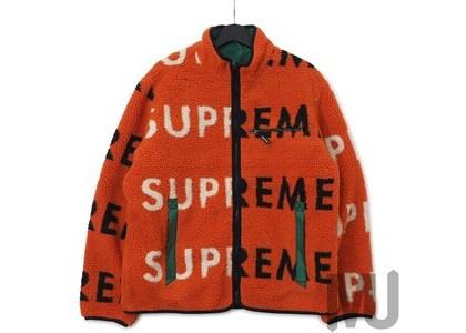 Supreme Reversible Logo Fleece Jacket Orangeの写真
