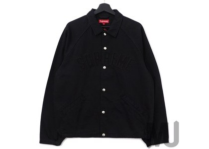 Supreme Snap Front Twill Jacket Blackの写真