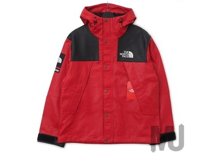 Supreme The North Face Leather Mountain Parka Redの写真