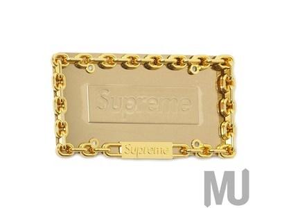 Supreme Chain License Plate Frame Goldの写真