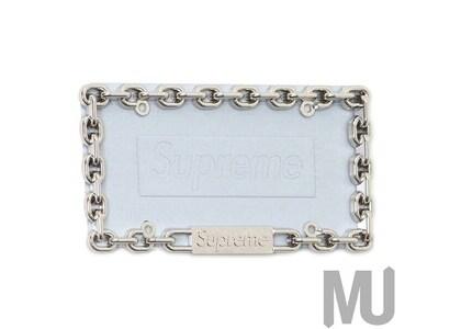 Supreme Chain License Plate Frame Silverの写真