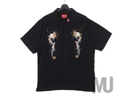 Supreme Dragon Rayon Shirt Blackの写真