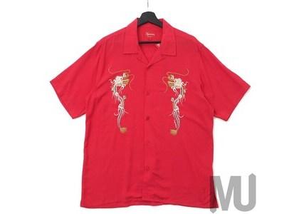 Supreme Dragon Rayon T-Shirt Redの写真