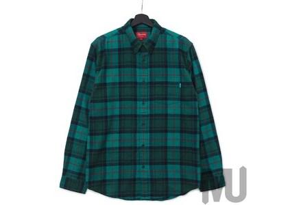 Supreme Tartan L/S Flannel Shirt Greenの写真