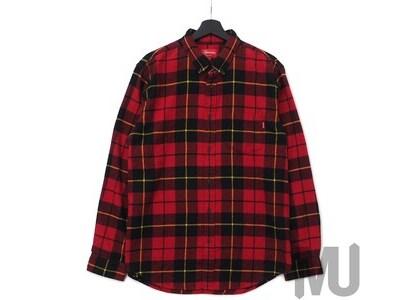 Supreme Tartan L/S Flannel Shirt Redの写真