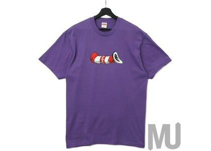 Supreme Cat in the Hat Tee Purpleの写真