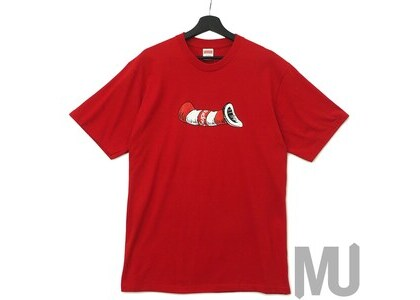 Supreme Cat in the Hat Tee Redの写真