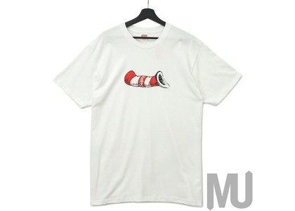 Supreme Cat in the Hat Tee Whiteの写真