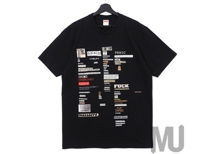 Supreme Cutouts Tee Blackの写真