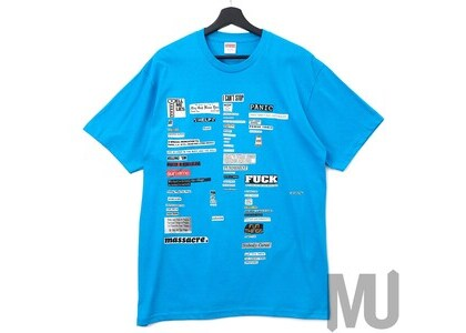 Supreme Cutouts Tee Bright Blueの写真