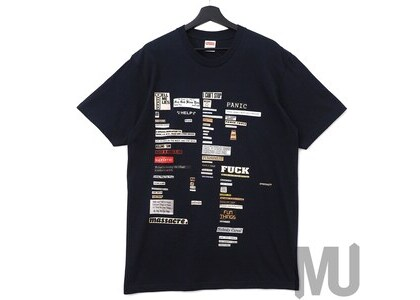Supreme Cutouts Tee Navyの写真
