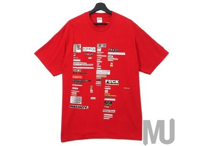 Supreme Cutouts Tee Redの写真