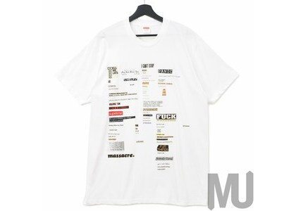 Supreme Cutouts Tee Whiteの写真