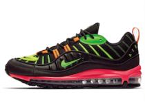 Nike Air Max 98 Neon Black Hyper Crimson Green Strike