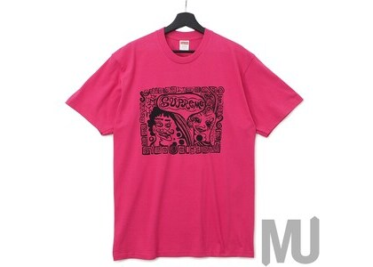 Supreme Faces Tee Dark Pinkの写真