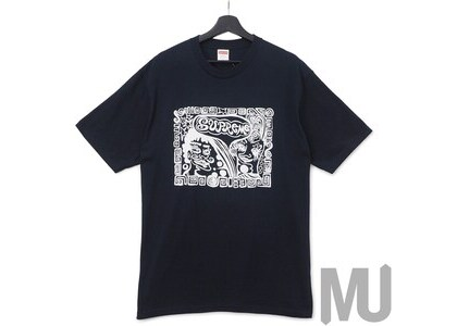 Supreme Faces Tee Navyの写真