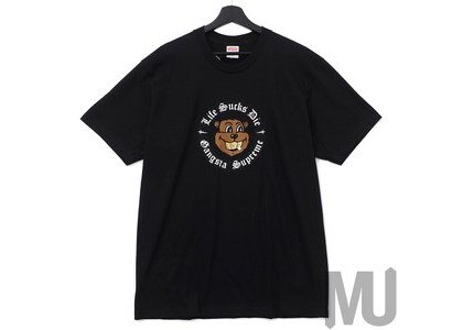 Supreme Life Sucks Die Tee Blackの写真