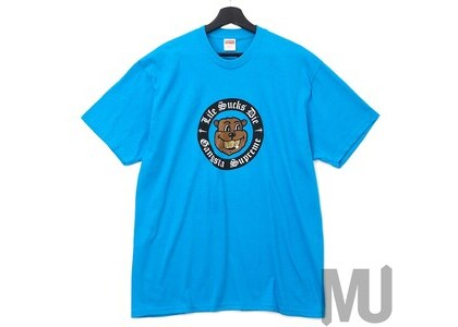 Supreme Life Sucks Die Tee Bright Blueの写真