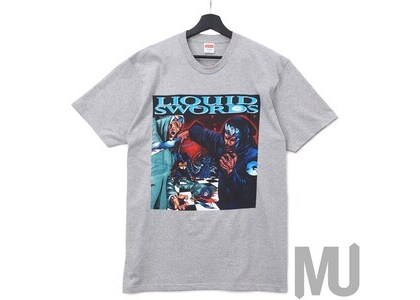 Supreme Liquid Swords Tee Heather Greyの写真