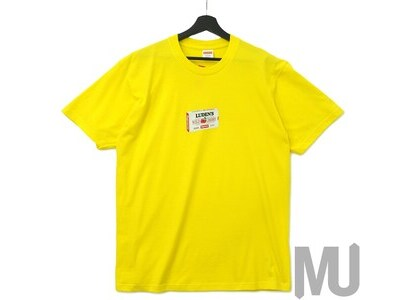 Supreme Luden's Tee Yellowの写真