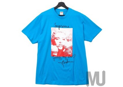 Supreme Madonna Tee Bright Blueの写真