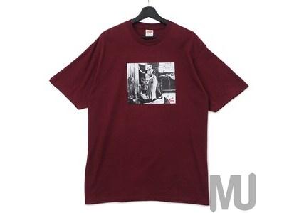 Supreme Mike Kelley Hiding From Indians Tee Burgundyの写真
