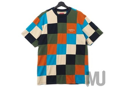 Supreme Patchwork Pique Tee Navy/Teal/Orangeの写真