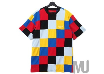 Supreme Patchwork Pique Tee Red/Yellow/Blueの写真