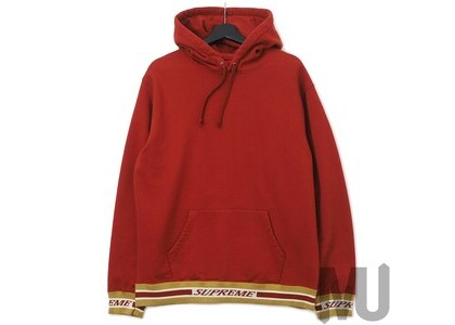 Supreme Striped Rib Hooded Sweatshirt Rustの写真