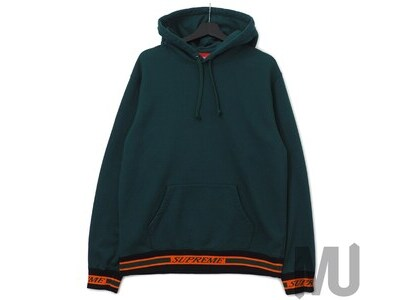 Supreme Striped Rib Hooded Sweatshirt Dark Greenの写真