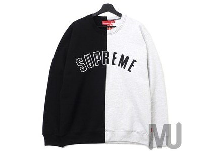 Supreme Split Crewneck Sweatshirt Blackの写真