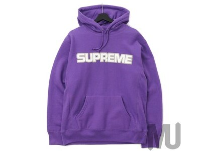 Supreme Perforated Leather Hooded Sweatshirt Violetの写真