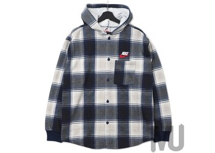 Supreme Nike Plaid Hooded Sweatshirt Navyの写真