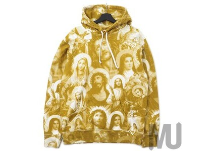 Supreme Jesus and Mary Hooded Sweatshirt Goldの写真