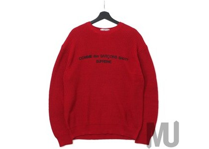 Supreme Comme des Garcons SHIRT Sweater Redの写真