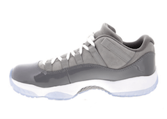 JORDAN 11 RETRO LOW MEDIUM GREY/GUNSMOKE-WHITE