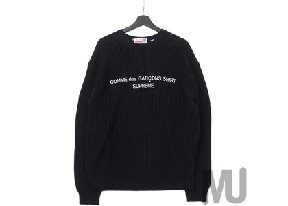 Supreme Comme des Garcons SHIRT Sweater Blackの写真