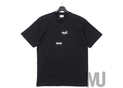 Supreme Comme des Garcons SHIRT Split Box Logo Tee Blackの写真