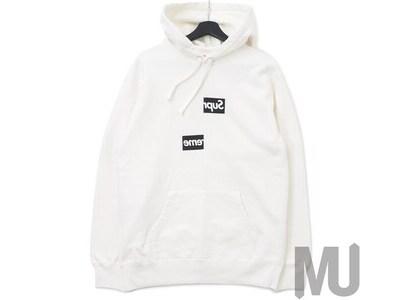 Supreme Comme des Garcons SHIRT Split Box Logo Hooded Sweatshirt Whiteの写真