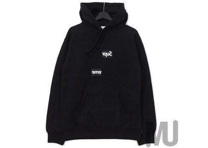 Supreme Comme des Garcons SHIRT Split Box Logo Hooded Sweatshirt Blackの写真