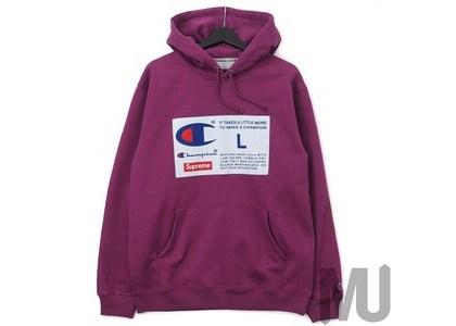 Supreme Champion Label Hooded Sweatshirt Bright Purpleの写真