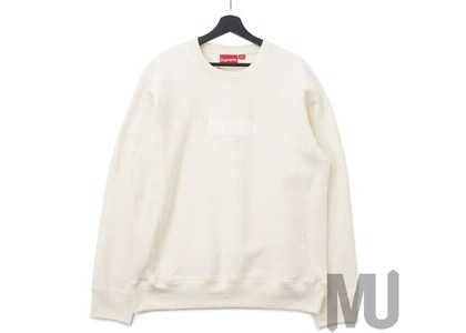 Supreme Box Logo Crewneck (FW18) Naturalの写真