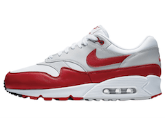 AIR MAX 90/1 WHITE/NEUTRAL GREY-BLACK-UNIVERSITY REDの写真